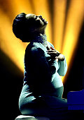 Alicia Keys performs during the outside broadcast of the MTV EMA's 2014 at on November 9 2014 in Glasgow Scotland