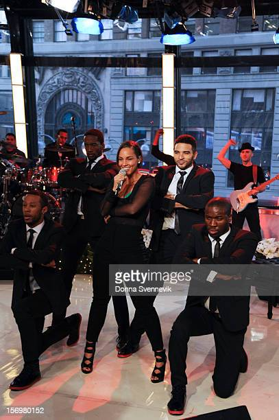 AMERICA Alicia Keys performs live on 'Good Morning America' 11/26/12 airing on the ABC Television Network ALICIA