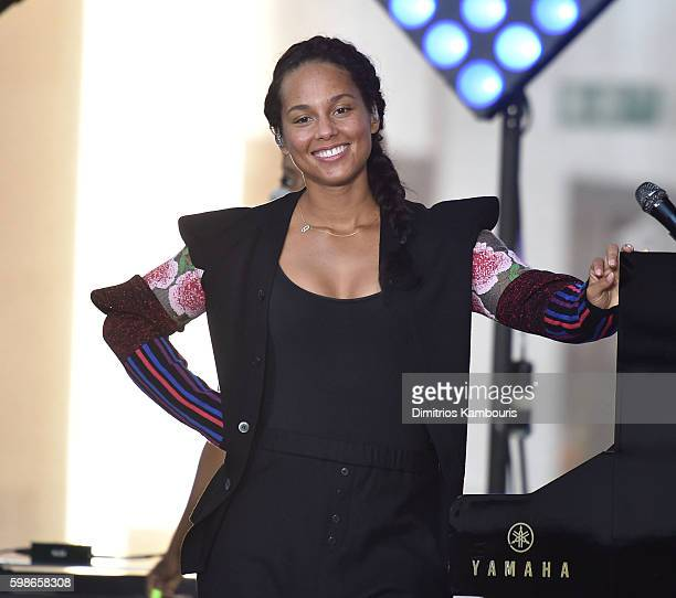 Alicia Keys performs on NBC's 'Today' at Rockefeller Plaza on September 2 2016 in New York City
