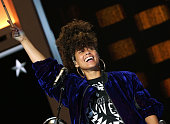 Alicia Keys performs on the second day of the 2016 Democratic National Convention at Wells Fargo Center on July 26 2016 in Philadelphia Pennsylvania...