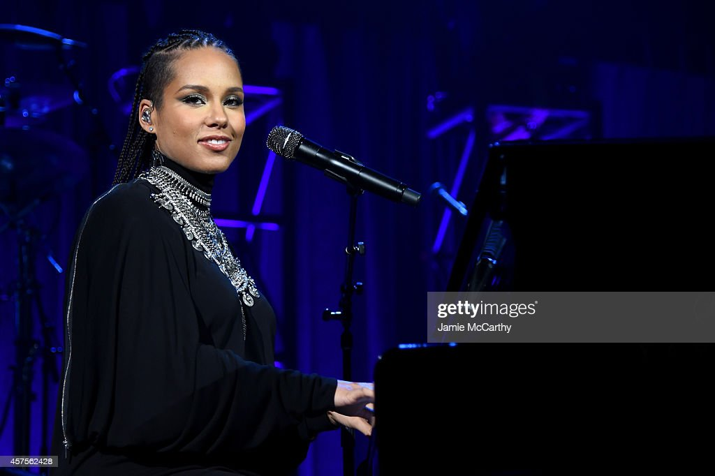 <a gi-track='captionPersonalityLinkClicked' href=/galleries/search?phrase=Alicia+Keys&family=editorial&specificpeople=169877 ng-click='$event.stopPropagation()'>Alicia Keys</a> performs onstage at Angel Ball 2014 hosted by Gabrielle's Angel Foundation at Cipriani Wall Street on October 20, 2014 in New York City.