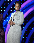 Alicia Keys presents award onstage at the MTV EMA's 2014 at The Hydro on November 9 2014 in Glasgow Scotland