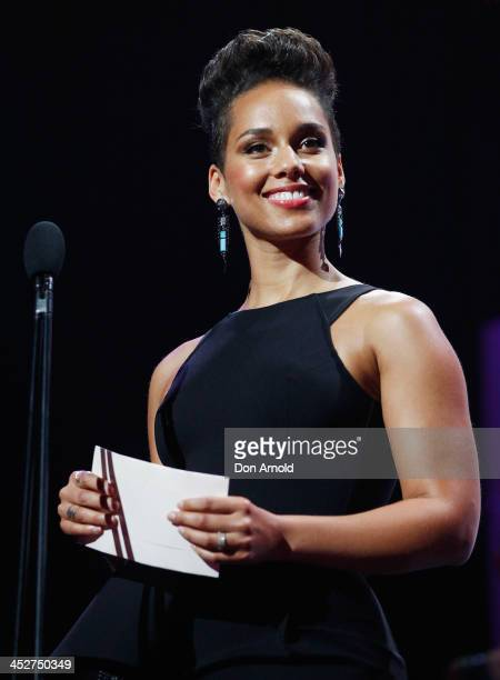 Alicia Keys presents the award for Best Female Artist during the 27th Annual ARIA Awards 2013 at the Star on December 1 2013 in Sydney Australia