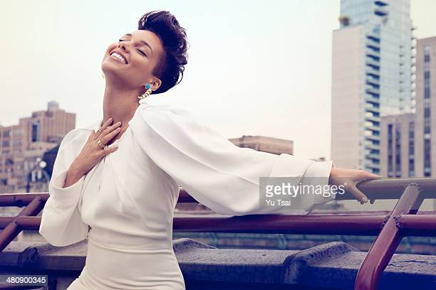 Alicia Keys Singer and producer Alicia Keys is photographed for Harpers Bazaar Arabia on October 3 2013 in Los Angeles California PUBLISHD IMAGE