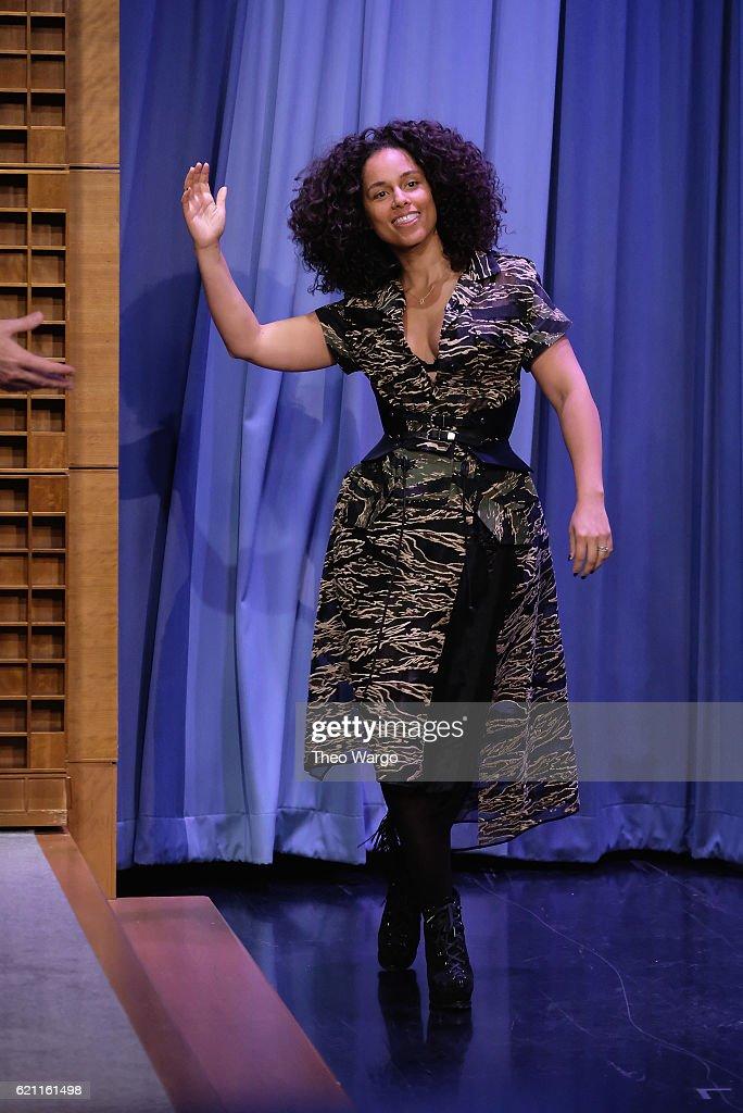 Alicia Keys Visits 'The Tonight Show Starring Jimmy Fallon' at Rockefeller Center on November 4, 2016 in New York City.