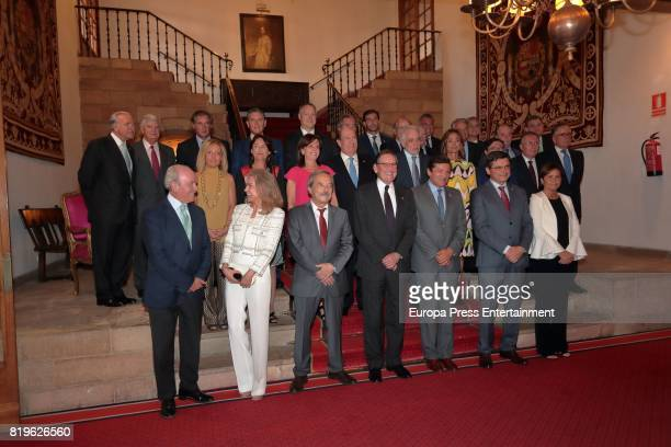 Alicia Koplowitz and Fernando Almansa attend the meeting of jury members of The Princess of Asturias Award for Concord on June 20 2017 in Oviedo Spain