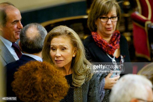 Alicia Koplowitz attends a commemoration of the holocaust event at Senado Palace on January 27 2015 in Madrid Spain