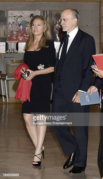 Alicia Koplowitz attends a homage to Princess Margarita's husband Carlos Zurita for his 25th anniversary as president of Prado Museum's Friends...