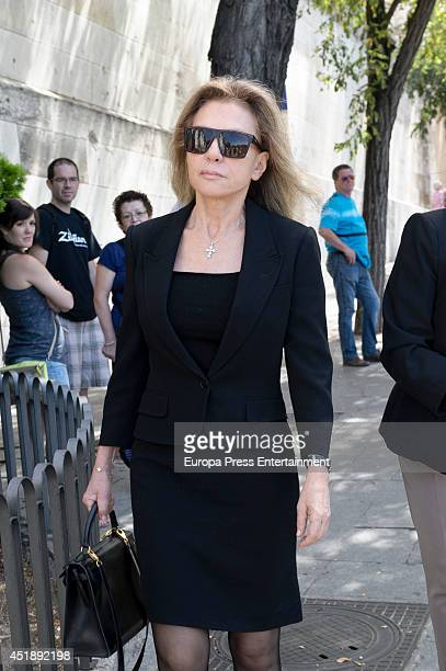Alicia Koplowitz attends the funeral for Crista of Bavaria at Almudena cathedral on July 8 2014 in Madrid Spain
