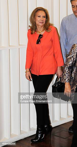 Alicia Koplowitz attends the Golden Medal for Merit For Work to the businesswoman Esther Koplowitz on November 4 2014 in Madrid Spain