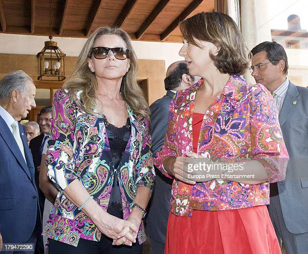 Alicia Koplowitz attends the meeting of jury members of The Prince of Asturias Award at on September 3 2013 in Asturias Spain