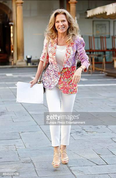 Alicia Koplowitz attends the meeting of jury members of The Prince of Asturias Award on September 2 2014 in Oviedo Spain