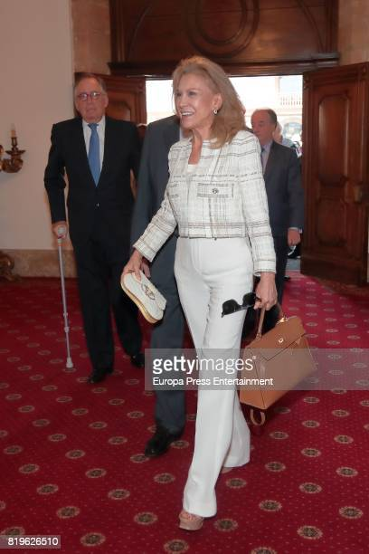 Alicia Koplowitz attends the meeting of jury members of The Princess of Asturias Award for Concord on June 20 2017 in Oviedo Spain