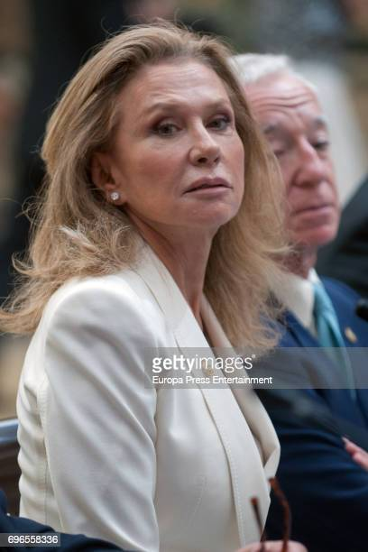 Alicia Koplowitz attends the meeting with members of Princess of Asturias Foundation at El Pardo palace on June 16 2017 in Madrid Spain