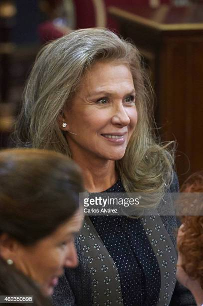 Alicia Koplowitz attends the official day of the commemoration of the holocaust at the Senate Palace on January 27 2015 in Madrid Spain