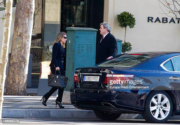 Alicia Koplowitz is seen at the grocery and later on going for shopping at Yves Saint Laurent store on January 25 2012 in Madrid Spain