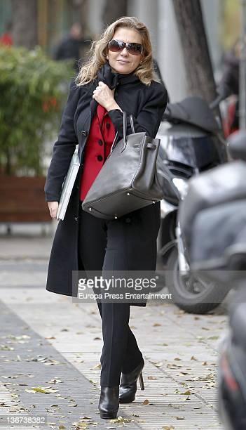 Alicia Koplowitz is seen leaving a restaurant on December 12 2011 in Madrid Spain