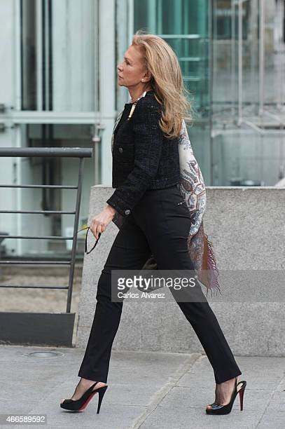 Alicia Koplowitz visits the Reina Sofia National Museum on March 17 2015 in Madrid Spain