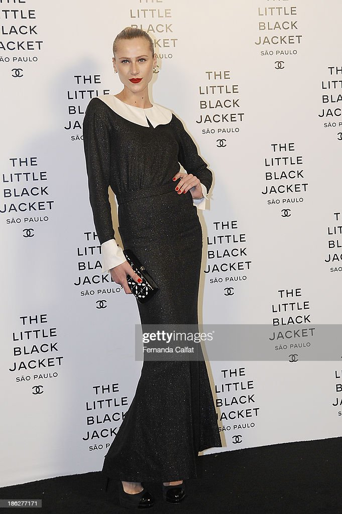 <a gi-track='captionPersonalityLinkClicked' href=/galleries/search?phrase=Alicia+Kuczman&family=editorial&specificpeople=7187114 ng-click='$event.stopPropagation()'>Alicia Kuczman</a> attends the Chanel Little Black Jacket event on October 29, 2013 in Sao Paulo, Brazil.
