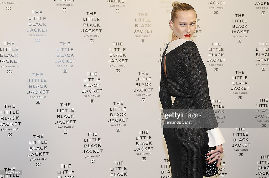 Alicia Kuczman attends the Chanel Little Black Jacket event on October 29, 2013 in Sao Paulo, Brazil.