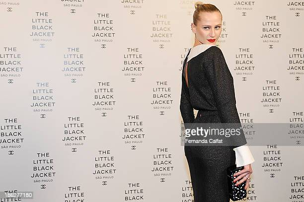Alicia Kuczman attends the Chanel Little Black Jacket event on October 29 2013 in Sao Paulo Brazil