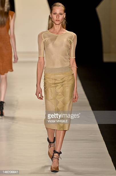 Alicia Kuczman walks the runway during the Animale show during Sao Paulo Fashion Week Spring/Summer 2013 Collections on June 11 2012 in Sao Paulo...