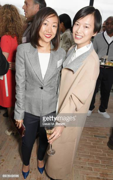 Alicia Liu and Rosey Chan attend the launch of new book 'Climate Of Hope' by Michael Bloomberg and Carl Pope at The Ned on June 5 2017 in London...