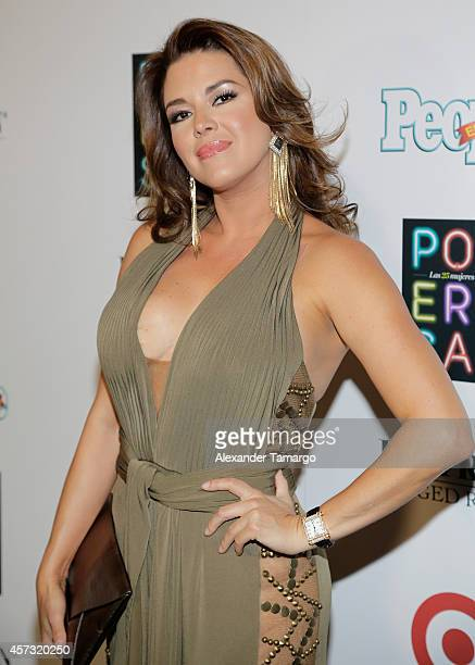 Alicia Machado arrives at the 25 Most Powerful Women of People en Espanol celebration at Coral Gables Country Club on October 16 2014 in Coral Gables...