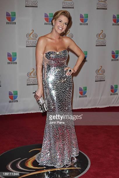 Alicia Machado arrives at the Premio Lo Nuestro a La Musica Latina at American Airlines Arena on February 16 2012 in Miami Florida