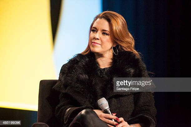 Alicia Machado attends the 4th Annual People En Espanol Festival at Jacob Javits Center on October 17 2015 in New York City