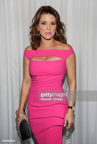 Alicia Machado attends The Israel Ministry of Tourism Reception at Briza on the Bay on September 16 2014 in Miami Florida
