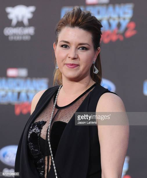 Alicia Machado attends the premiere of 'Guardians of the Galaxy Vol 2' at Dolby Theatre on April 19 2017 in Hollywood California
