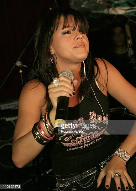Alicia Machado during Alicia Machado Releases her SelfTitled Debut CD at IO Launch in Miami Florida United States