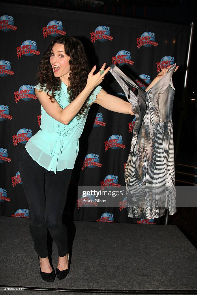 Alicia Minshew promotes 'Beacon Hill' as she visits Planet Hollywood Times Square on March 12, 2014 in New York City.