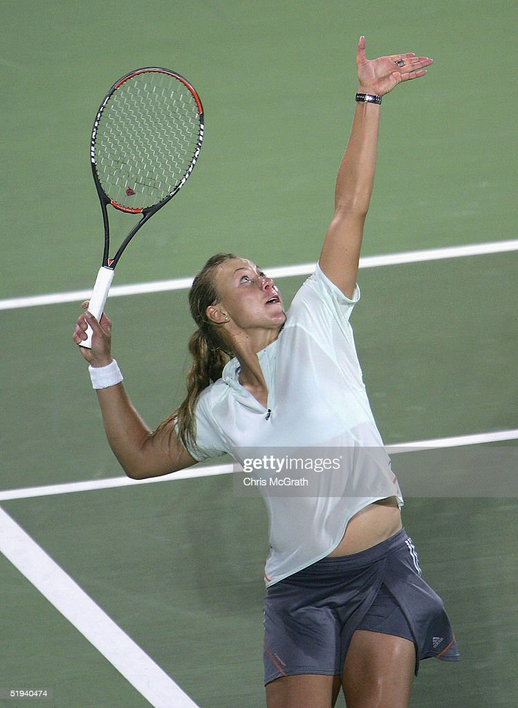 Alicia Molik Of Australia In Action Against Jelena Jankovis Serbia During Day Four The