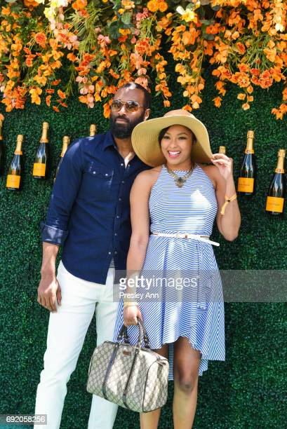 Alicia Quarles and Stephen Senegal attend The Tenth Annual Veuve Clicquot Polo Classic Arrivals at Liberty State Park on June 3 2017 in Jersey City...