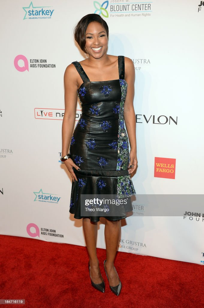 <a gi-track='captionPersonalityLinkClicked' href=/galleries/search?phrase=Alicia+Quarles&family=editorial&specificpeople=5533764 ng-click='$event.stopPropagation()'>Alicia Quarles</a> attends the Elton John AIDS Foundation's 12th Annual An Enduring Vision Benefit at Cipriani Wall Street on October 15, 2013 in New York City.