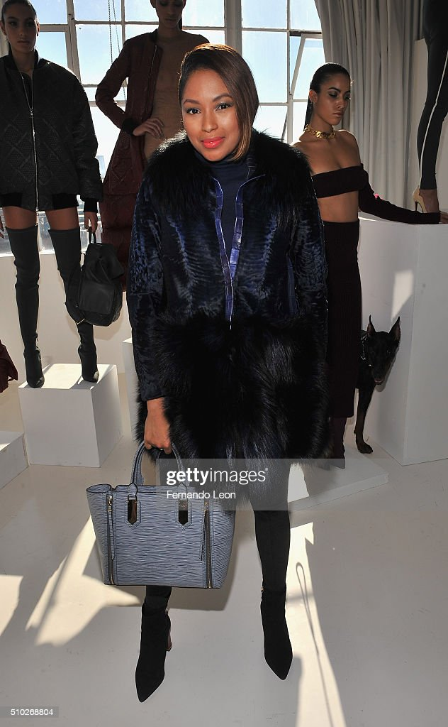 Alicia Quarles attends the Laquan Smith Presentation at Jack Studios during Fall 2016 New York Fashion Week on February 14, 2016 in New York City.