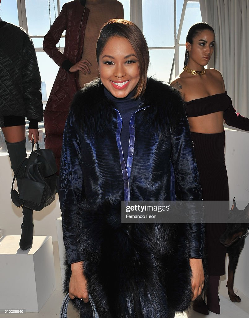 <a gi-track='captionPersonalityLinkClicked' href=/galleries/search?phrase=Alicia+Quarles&family=editorial&specificpeople=5533764 ng-click='$event.stopPropagation()'>Alicia Quarles</a> attends the Laquan Smith Presentation at Jack Studios during Fall 2016 New York Fashion Week on February 14, 2016 in New York City.