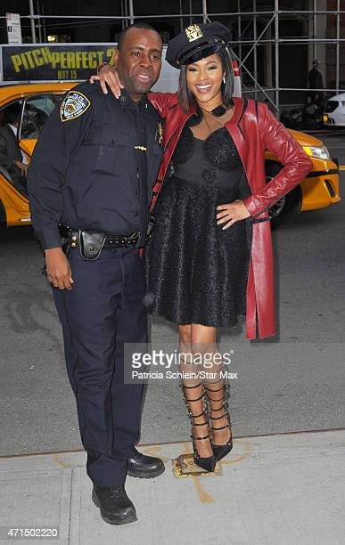 Alicia Quarles is seen on April 28 2015 in New York City