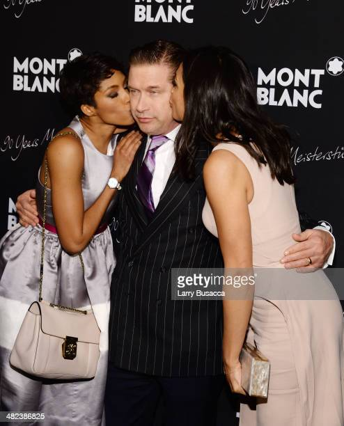 Alicia Quarles Stephen Baldwin and Rosario Dawson attend Montblanc Celebrates 90 Years of the Iconic Meisterstuck on April 3 2014 at Guastavino's in...