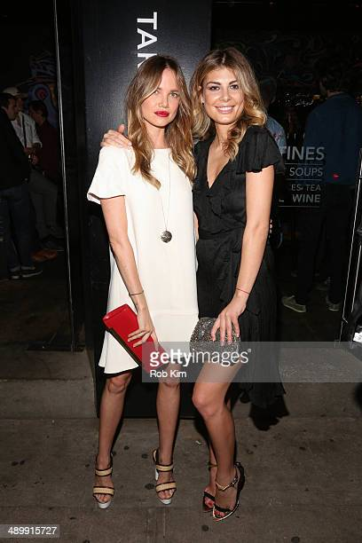 Alicia Rountree and Angela Martini attend the Wattsup Rose 2014 Release at Tartinery on May 12 2014 in New York City
