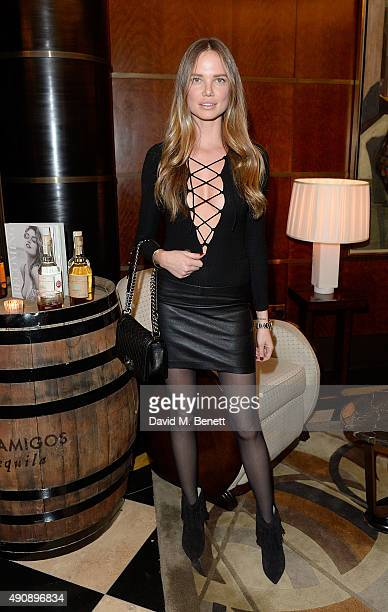 Alicia Rountree arrives at the London launch of Casamigos Tequila and Cindy Crawford's book 'Becoming' hosted by Rande Gerber George Clooney and...
