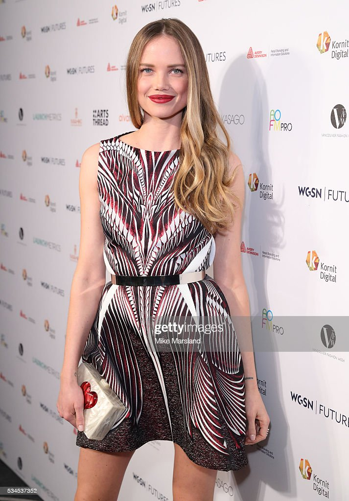 <a gi-track='captionPersonalityLinkClicked' href=/galleries/search?phrase=Alicia+Rountree&family=editorial&specificpeople=5686431 ng-click='$event.stopPropagation()'>Alicia Rountree</a> arrives for the WGSN Futures Awards 2016 on May 26, 2016 in London, England.
