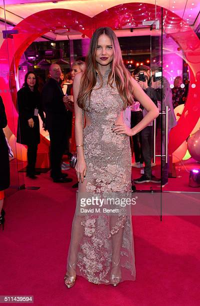 Alicia Rountree at The Naked Heart Foundation's Fabulous Fund Fair in London at Old Billingsgate Market on February 20 2016 in London England