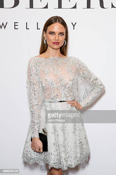 Alicia Rountree attends De Beer's Moments in Light at Claridge's Hotel on September 18 2015 in London England