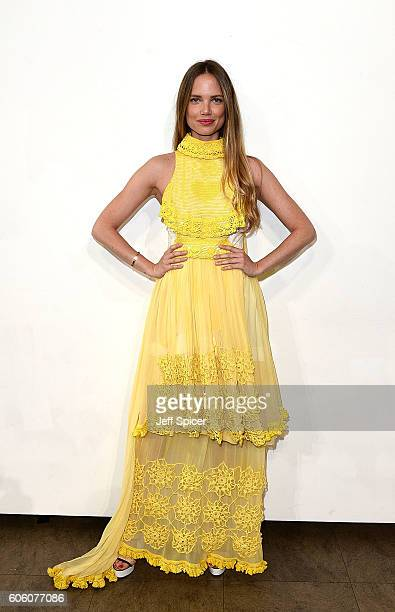 Alicia Rountree attends the Bora Aksu show during London Fashion Week Spring/Summer collections 2017 on September 16 2016 in London United Kingdom