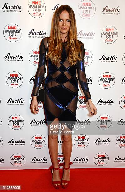 Alicia Rountree attends the NME Awards with Austin Texas at the O2 Academy Brixton on February 17 2016 in London England