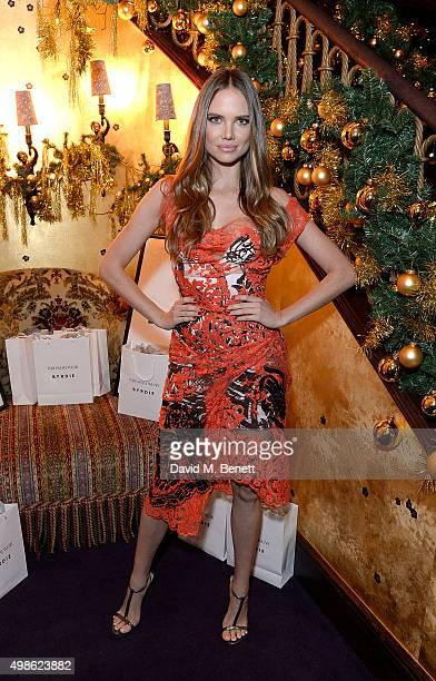Alicia Rountree attends the WhoWhatWear UK Launch at Loulou's on November 24 2015 in London England