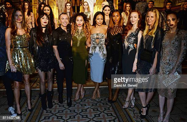 Alicia Rountree Zara Martin Julien Macdonald Ella Eyre Sarah Jane Crawford Rochelle Humes Olivia Grant Alice NaylorLeyland and Rosie Fortescue pose...